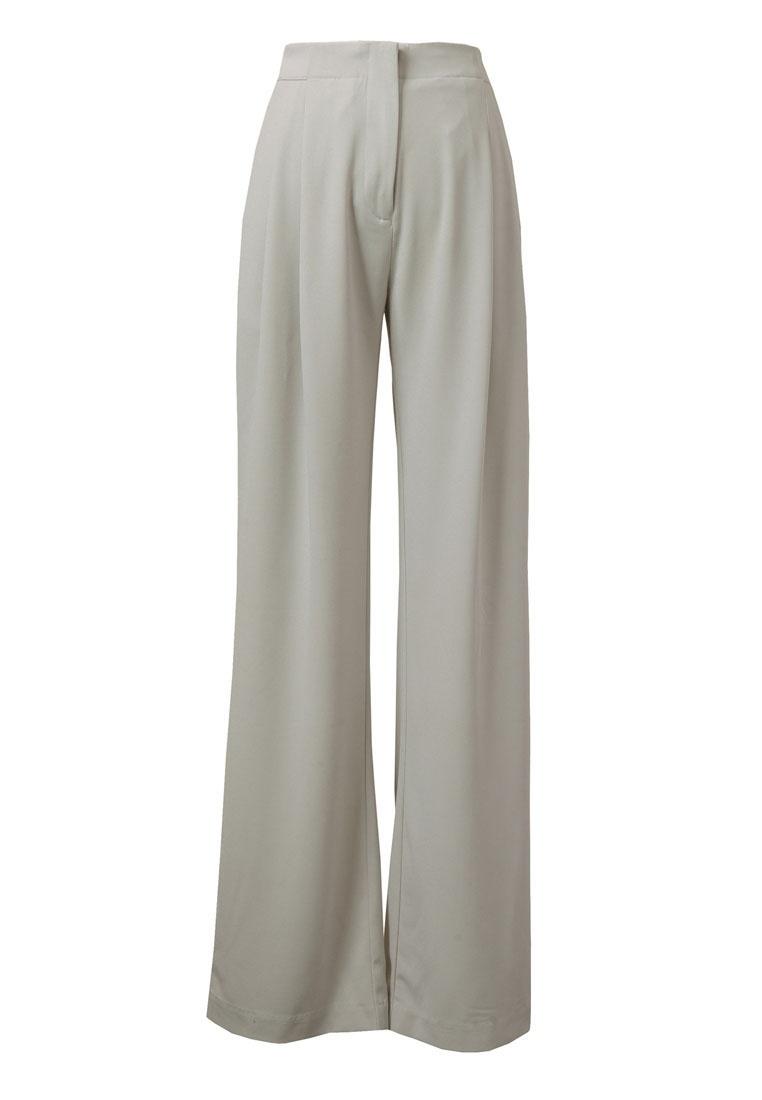 Light Trousers Double Kodz Pleated Grey qSTRUUtw
