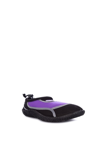 Reva black and purple Pilpup Aqua Shoes BD787SHBE465AFGS_1