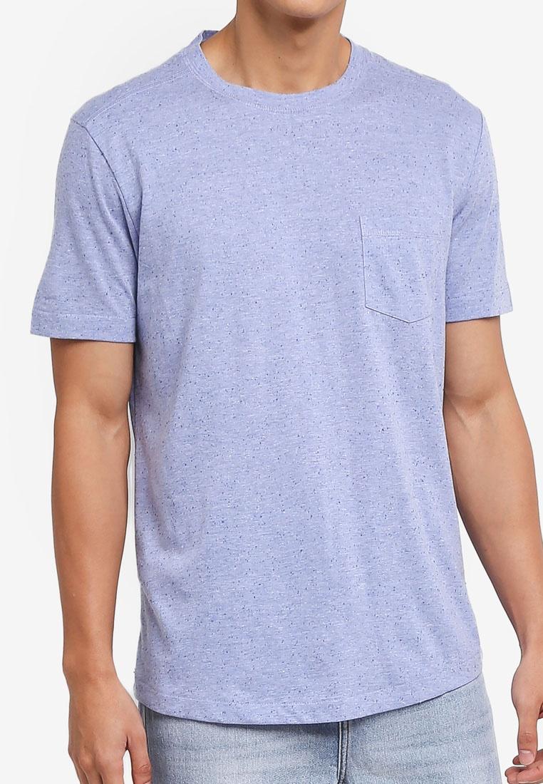 Flecked T MANGO Blue Pastel Cotton Shirt Blend Man Light EU4wrpqEx