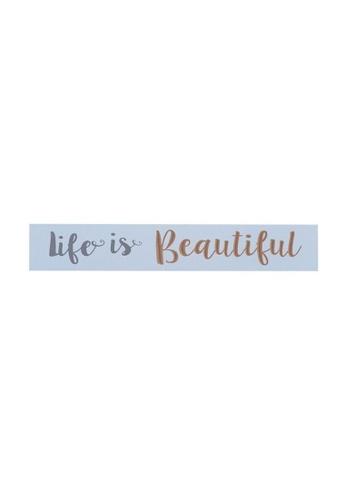 Klosh Wall Plaque - Life is Beautiful 9F3E9HL85365F8GS_1