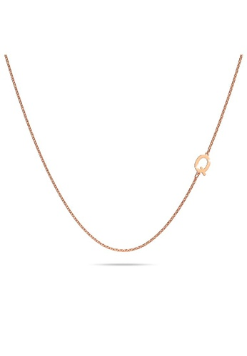 Bullion Gold gold BULLION GOLD Bold Alphabet Letter Initial Charm Necklace in Rose Gold Tone - Q C2C24ACFE86844GS_1