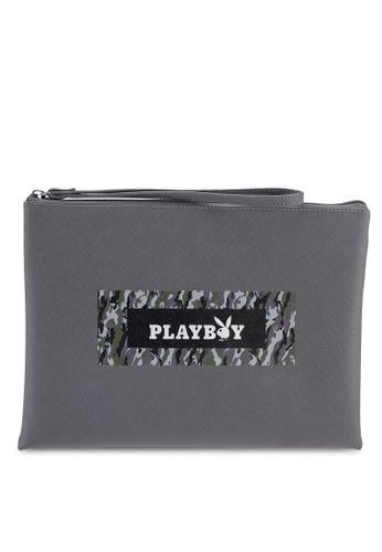 Playboy grey Playboy Clutch Bag 2292BAC94C94BAGS_1