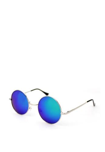 Peculiar and Odd silver Premium Round 1505 Classic Sunglasses with Spring Hinges 763E5GL8E79694GS_1