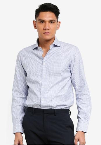 OVS blue Printed Shirt C48EFAA9EAA8EDGS_1