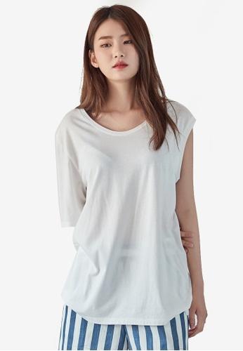 NAIN white One Shoulder Top 68583AA648E8B4GS_1