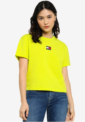 Tommy Hilfiger green Badge Crew Neck T-Shirt - Tommy Jeans 35479AAEC76EC7GS_1