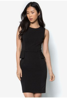 Collection Belted Peplum Dress