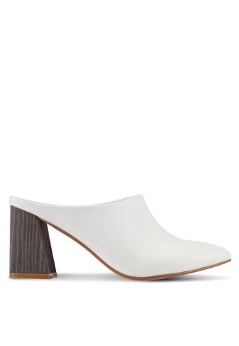 ZALORA white Detailed Chunky Heels CA03BSH20DE87BGS_1