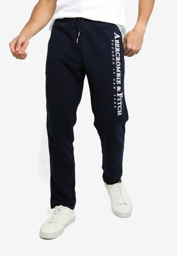 Abercrombie & Fitch navy Tech Logo Classic Pants 0DD95AA8230EF4GS_1