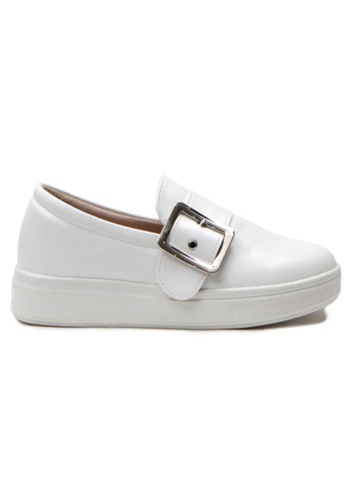 Crystal Korea Fashion 白色 韓國製新款百搭舒適輕便鞋 144F3SHDCB9211GS_1