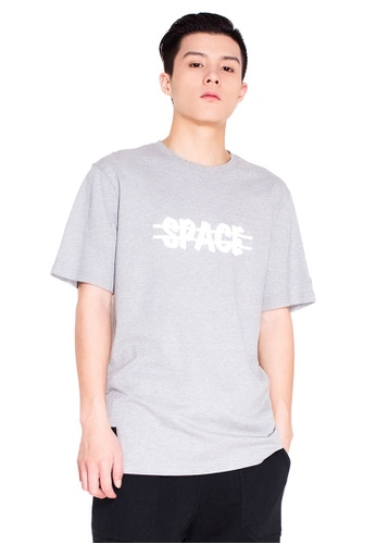 Reoparudo grey RPD Reflective Cross Space Print Tee (Grey) RE413AA0F4BESG_1