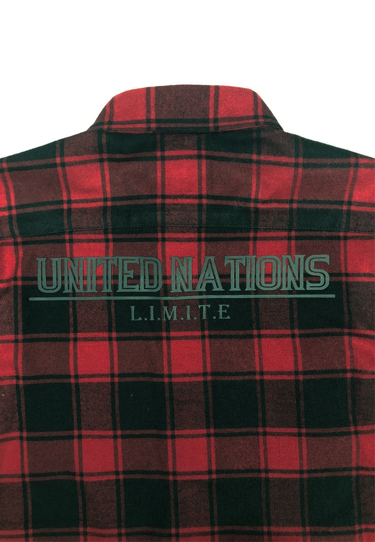 Fleece L I T Cotton M I Shirt Red Check E H61cqO