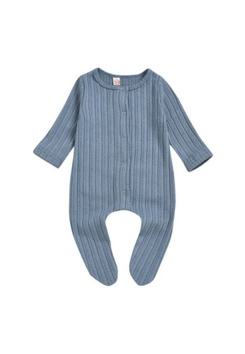 RAISING LITTLE blue Arbie  Romper- Blue 7EC17KA2EDF51BGS_1
