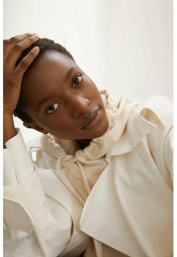 H&M white Short-sleeved hoodie 43A4FAA266AADDGS_1