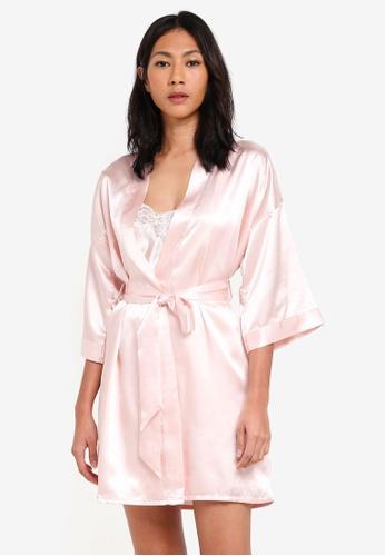 Lipsy pink Bride Squad Robe D85C5AA59E091FGS_1