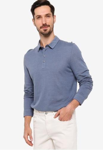 BOSS blue T-Pointer 09 Long Sleeve Polo Shirt C41C4AAB516D03GS_1