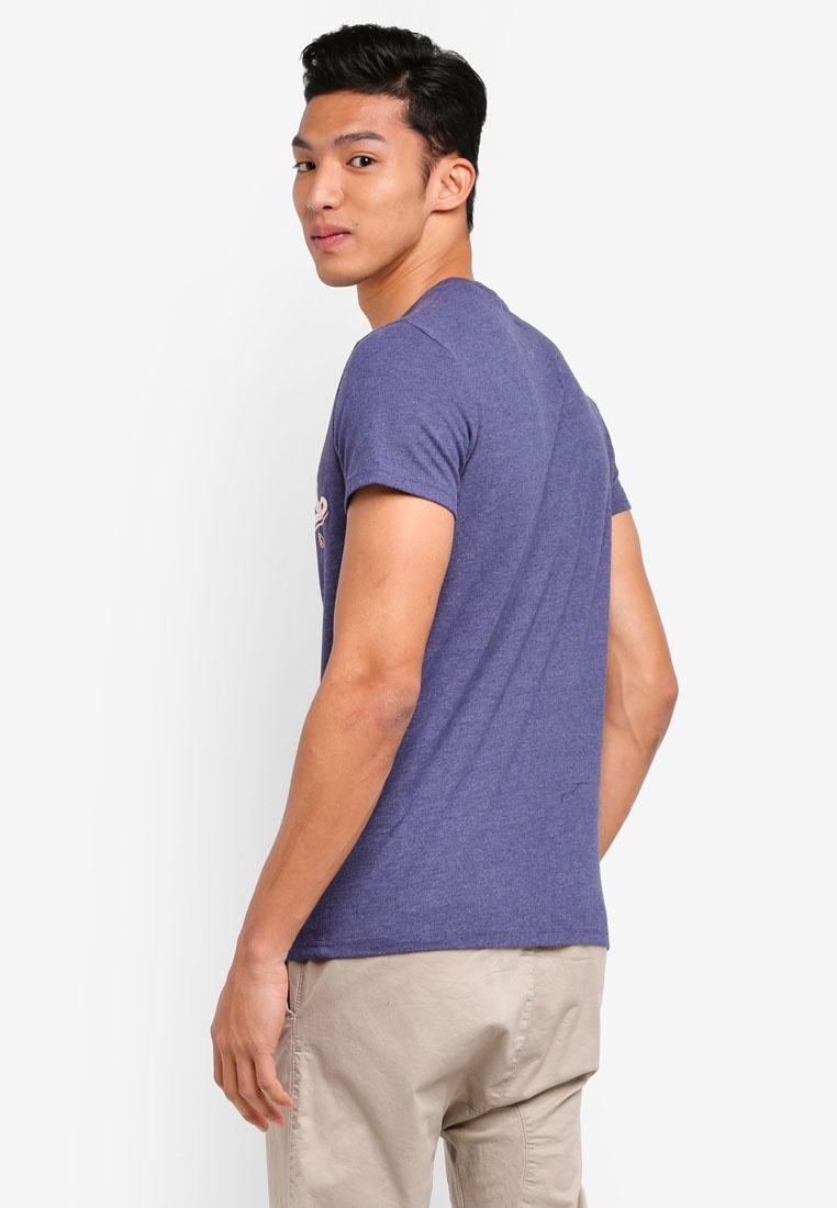 Tee High Duo Marl Princedom Superdry Blue Flyers SqrEwqfgxH