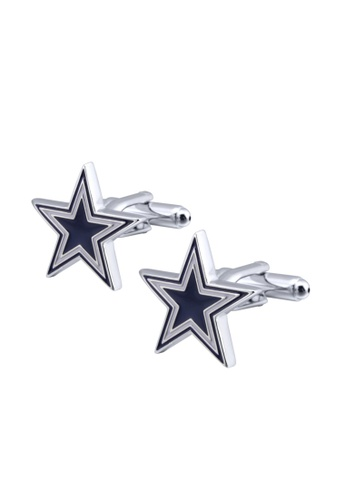 Kings Collection blue Blue and White Color Five-Pointed Star Cufflinks (UPKC10076) 85675AC5664DF3GS_1