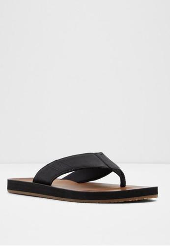ALDO black Thymel Sandals 847E1SHA97564FGS_1