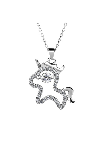 Her Jewellery silver 12 Dancing Zodiac Pendant (Horse) WG - Made with premium grade crystals from Austria 10EEDAC01D65E9GS_1