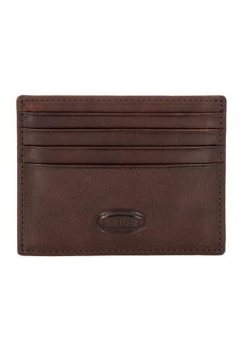 Bric's brown BRIC'S Monte Rosa RFID Card Holder (Dark Brown) 3F604AC1E69BA0GS_1