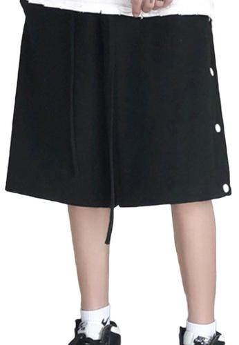 Sunnydaysweety black Side Buttons Wide Leg Shorts A21032317BK 5685CAA2EA50B2GS_1