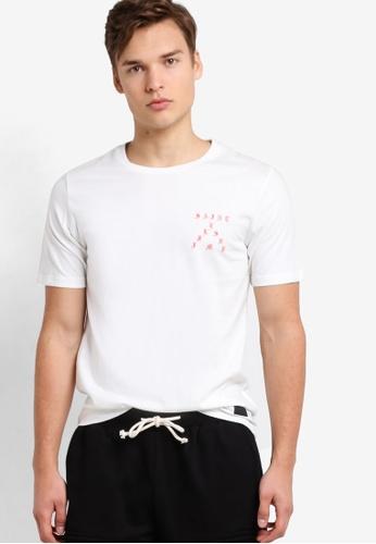 Flesh IMP white Printed Medieval Saint T-Shirt FL064AA95NXWMY_1