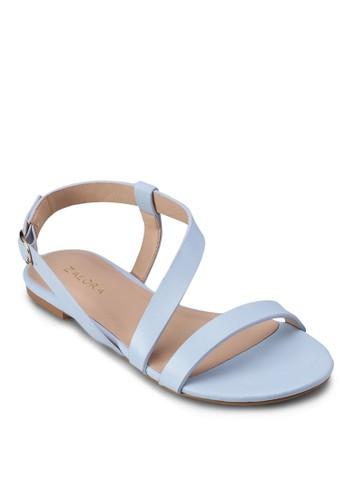 造型踝帶平底涼zalora時尚購物網評價鞋, 女鞋, 涼鞋