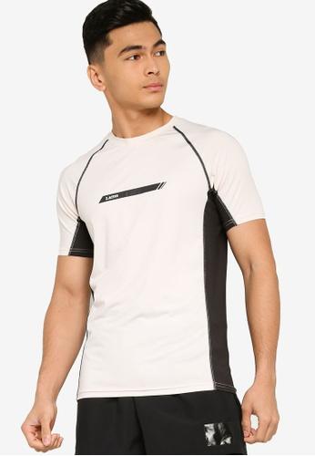 ZALORA ACTIVE beige Active Colourblock Raglan T-shirt 6CA05AA2886677GS_1