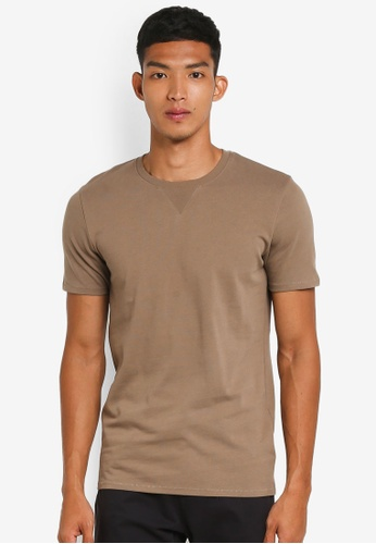 Selected Homme brown Marcel Short Sleeve O-Neck Tee 669A4AA92FD28CGS_1