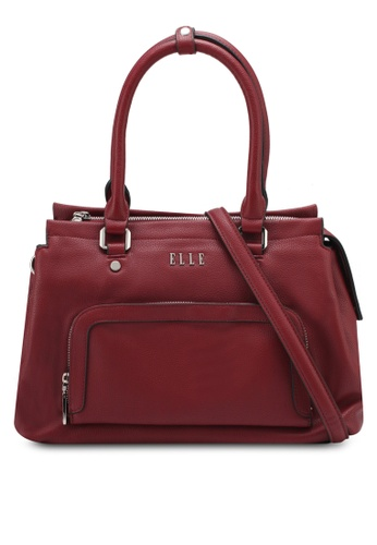 ELLE red Nancy Shoulder Bag EL900AC0SRTRMY_1