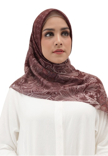 Buttonscarves red Buttonscarves Maharani Voile Square Maroon 935B2AA0E5C73BGS_1