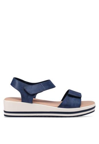 Bata 藍色 繞帶楔型鞋 1717DSHB549CD9GS_1