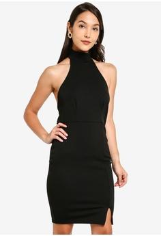 ec73ce0f1ce6 MISSGUIDED black Choker Mini Dress 8F8D4AA8FB7041GS_1