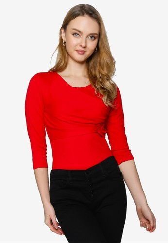Saturday Club red Knit Top With Layered Detail 31D93AA0E84714GS_1