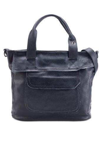 esprit台灣網頁經典仿皮手提包, 包, 手提包