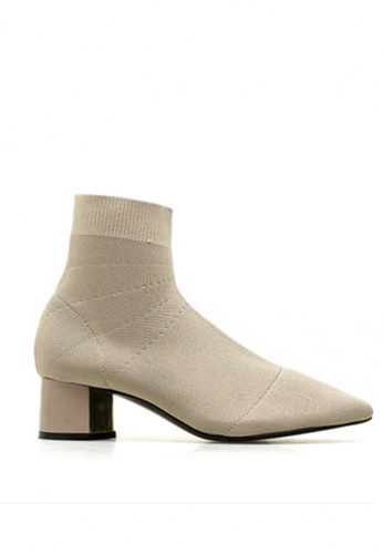 Twenty Eight Shoes beige Pointy Socking Ankle Boots 088 A84DFSH99AD934GS_1
