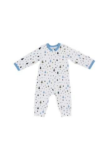 Baby Lovett white Music of the Rain Two-Way Zipper Suit A1A5CKAC1F2936GS_1