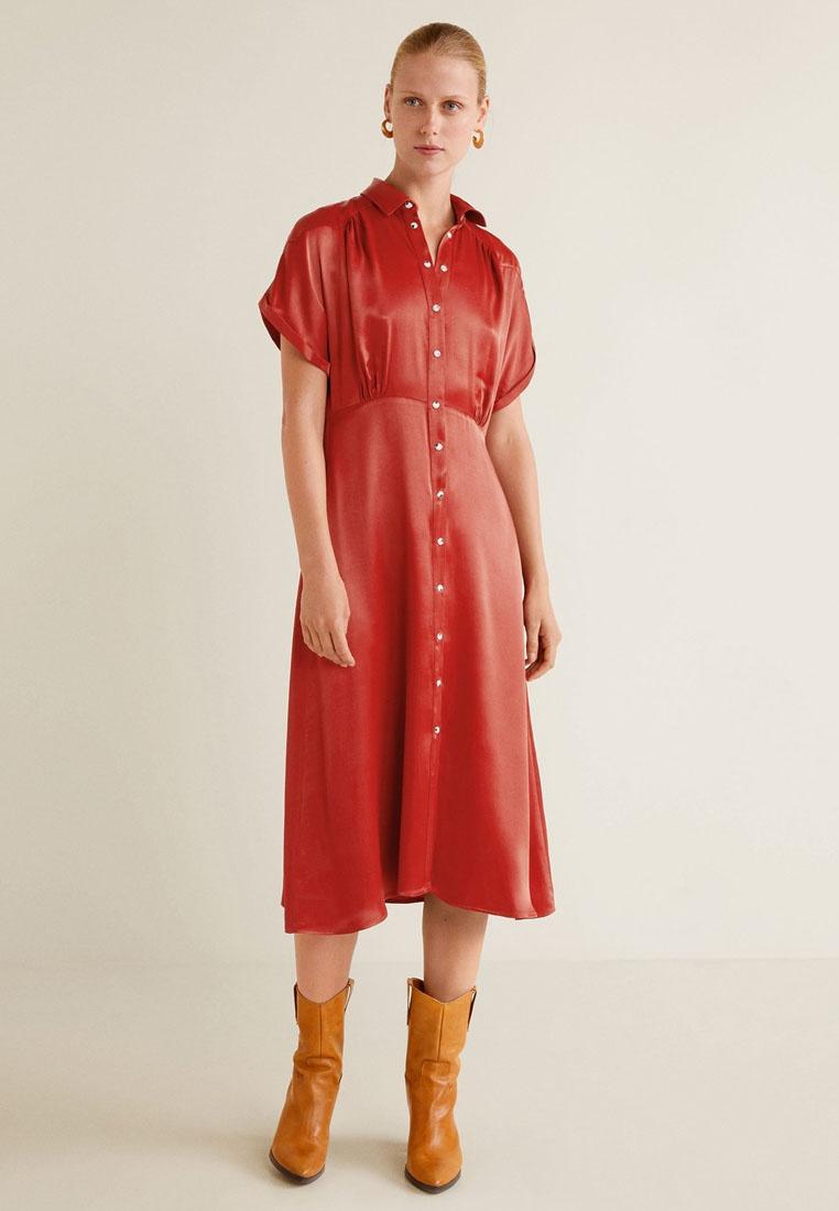 Dress Dress Red Satin Satin Red Mango Mango fxZzWwI