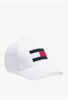21ad4fb92a6d2 Tommy Hilfiger white Big Flag Cap 2F89EACD0299D7GS 1