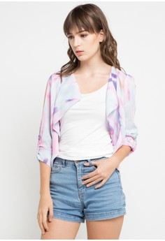Image of Abstract Pink Blazer