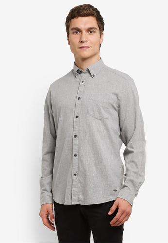 ESPRIT grey Woven Long Sleeve Shirt ES374AA0RVDZMY_1
