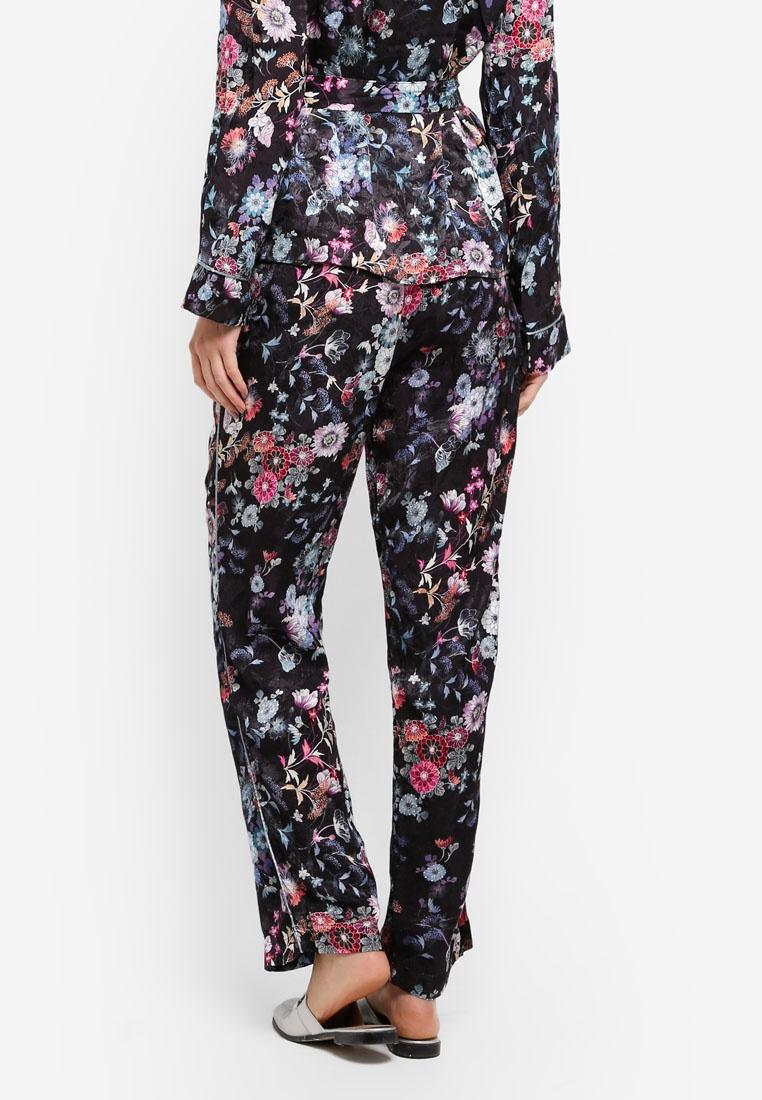 Vero Black Flowers Zelda Moda Pant pBOxqzvf