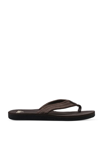 Quiksilver brown Carver Suede Sandals 19754SH60A1AEBGS_1