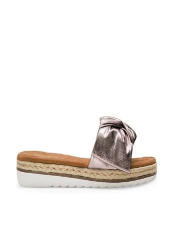 SEMBONIA grey SEMBONIA Synthetic Leather Flat Sandal (Light Grey) 4438BSH167ABF7GS_1