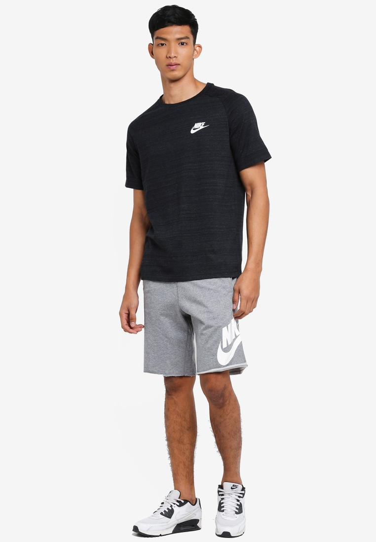 Nike Sportswear Men's Black White Nike 15 Top Advance Heather Avx5wdq