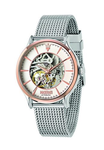 Maserati silver Epoca Automatic Watch R8823118001 Silver Metal Strap 2AA7AAC78745BEGS_1