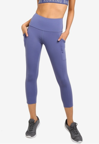 Running Bare blue Ab Waisted Power Moves 7/8 Tights With Side Pockets E2418AA02925AEGS_1