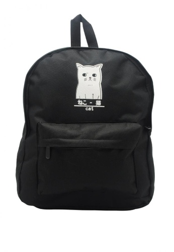 Shop Stylebox PJ-004 Casual Cat Canvas Backpack Online on ZALORA ... f83935800ffb5