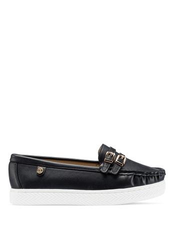 Carlton London 黑色 厚底樂福鞋 B65DDSH74B6DAFGS_1